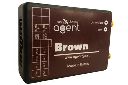 Терминал (ГЛОНАСС/GPS трекер) AGENT Brown